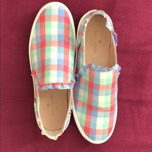 ✨ kate spade lilly plaid slip on sneakers